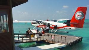 Vandflyveren der tog os det sidste stykke til Kuredu