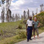 Vagt med på tur i parken ved Sopa Resort, Naivasha