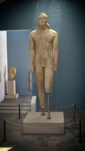 Den store kouros i Samos' arkæologiske museum