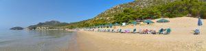 Pisili Ammos stranden (den vestlige)