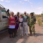 Færdig med bushwalk - klar til at blive kørt tilbage til Sarova Mara